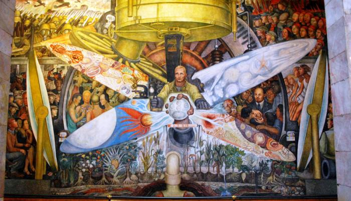 The great rivalry story between rivera and rockefeller for Diego rivera rockefeller center mural